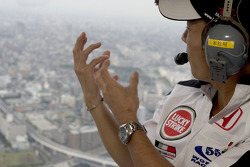 At home in Tokyo with Takuma Sato: helicopter ride for Takuma Sato