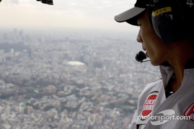 At home in Tokyo with Takuma Sato: helicopter ride for Takuma Sato