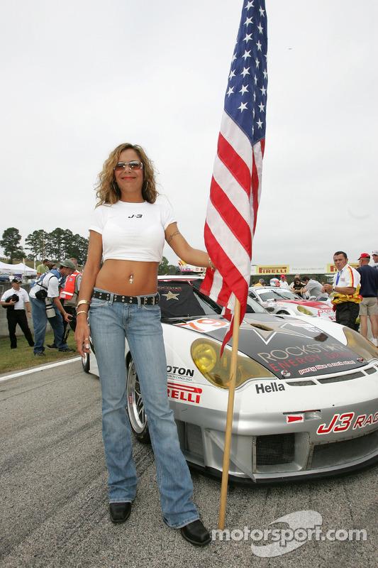 J3 Motorsport flag girl