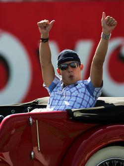 Christian Klien en el desfile de pilotos
