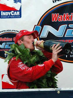 Scott Dixon likes the taste of victory