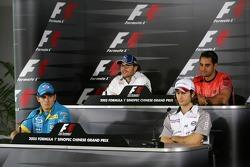 Thursday FIA press conference: Giancarlo Fisichella, Jarno Trulli, Jacques Villeneuve and Juan Pablo Montoya