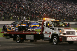 The car of Michael Waltrip on the platform truck