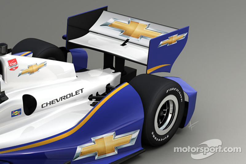 Rendering of the 2014 Chevrolet aero kit