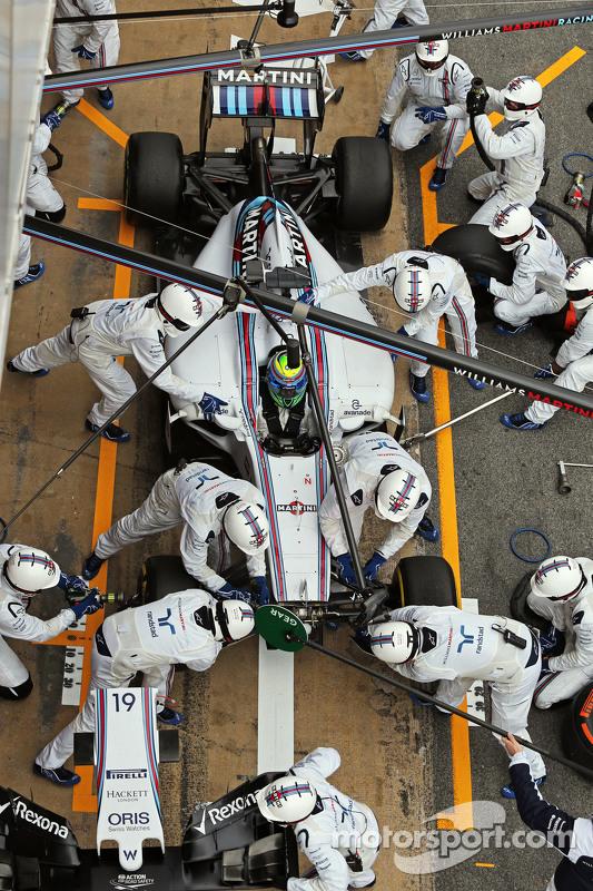 Felipe Massa, Williams FW37 treina o pit stop