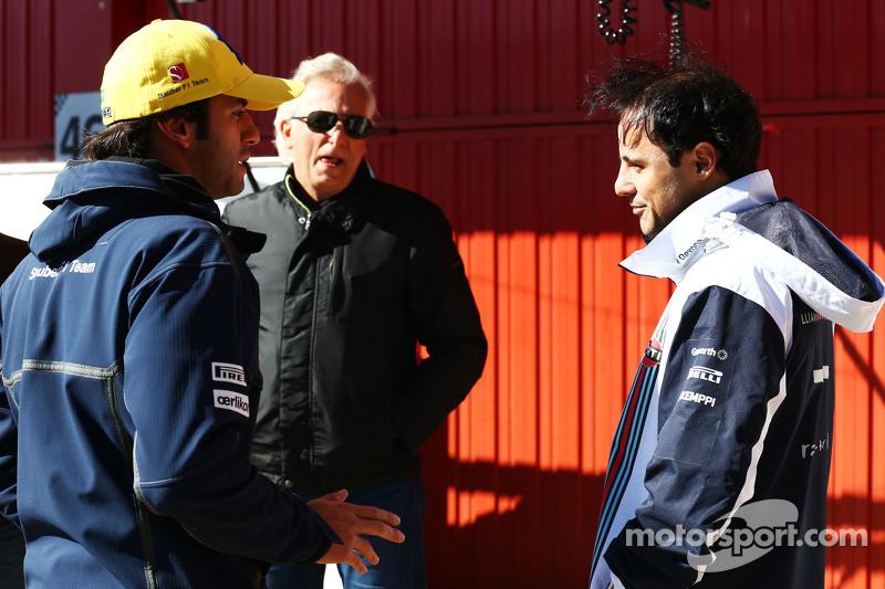 (从左到右)费利佩·纳萨,索伯车队,和费利佩·马萨,威廉姆斯车队
