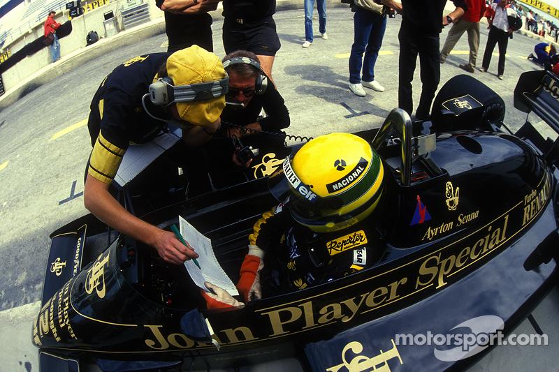 Ayrton Senna, Lotus dengan Gérard Ducarouge