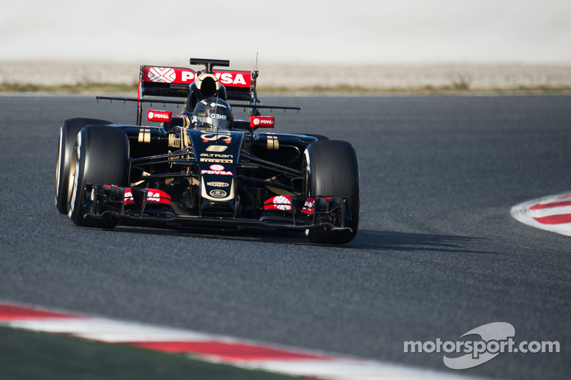 Romain Grosjean, Lotus F1 E23 running sensor equipment