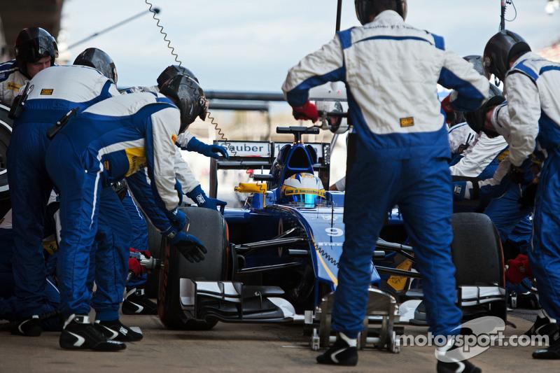 Маркус Ерікссон, Sauber C34 практикує піт-стоп