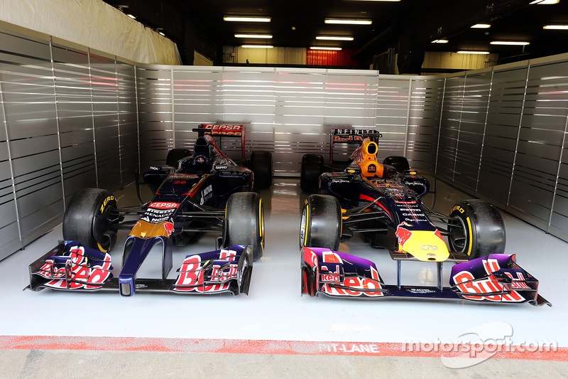 Old Scuderia Toro Rosso Andred Bull Racing cars