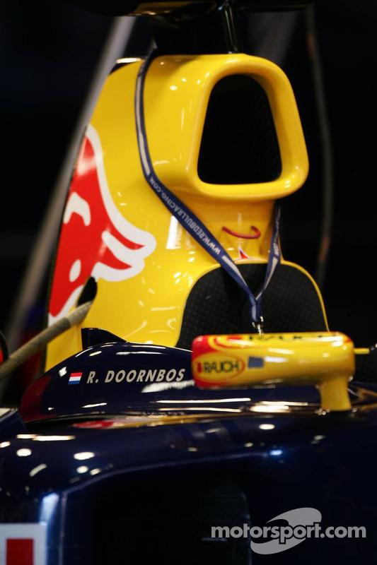 Le nom de Robert Doornbos sur la monoplace Red Bull
