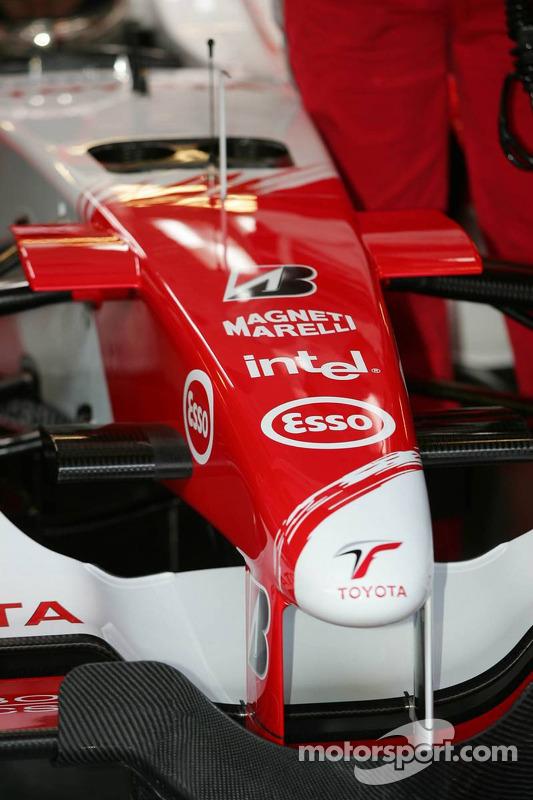Le nez de la nouvelle Toyota TF106
