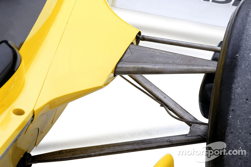 Photoshoot of the 2005 Renault R25, first World Championship winning car for Renault, and the 1979 R