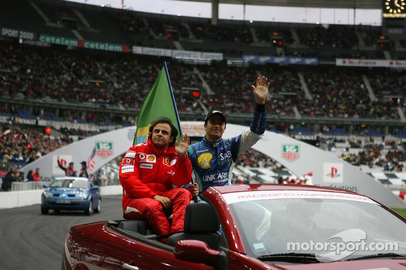 Presentación de pilotos: Felipe Massa y Nelson A. Piquet