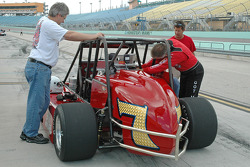 New model USAC Silver Crown car