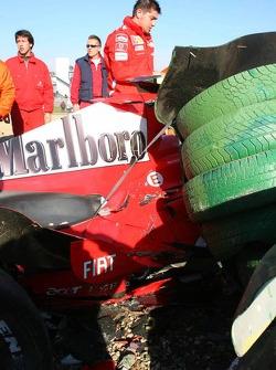 wrecked Car, Luca Badoer