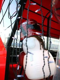 Frosty the Snowman at Ferrari pitwall
