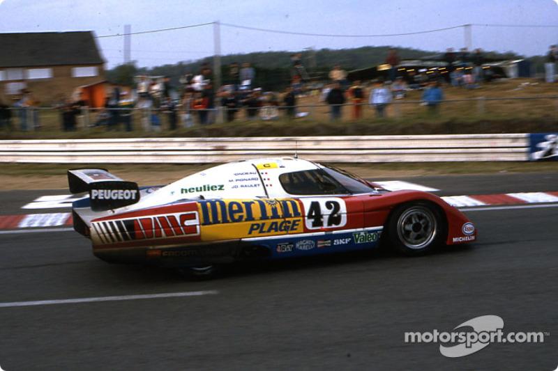 #42 WM Peugeot WM P83B Peugeot: Michel Pignard, Jean-Daniel Raulet, Jean Rondeau