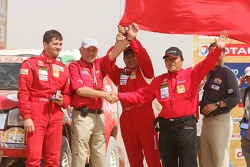 Car category podium: Xu Lang and Fabian Lurquin