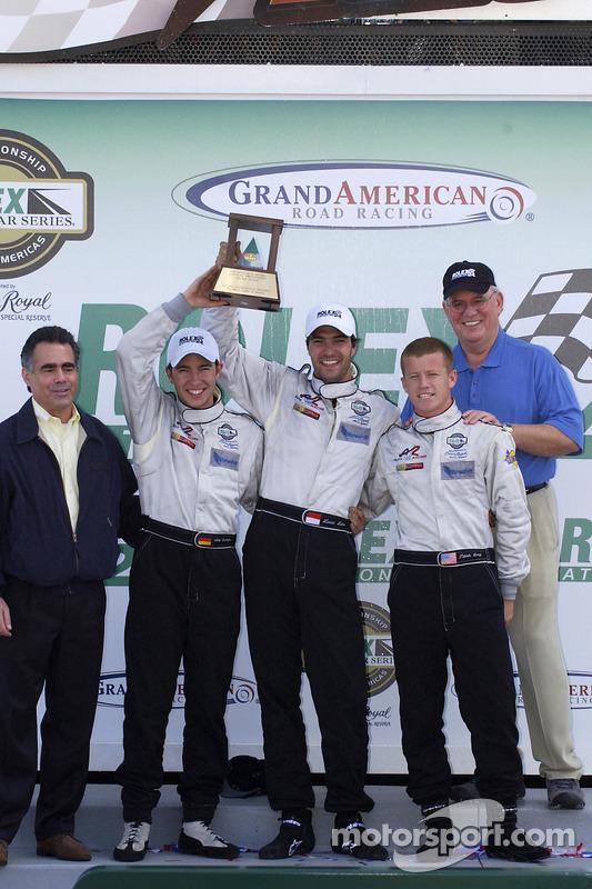 Troisième place du classement général: Mike Rockenfeller, Lucas Luhr, Patrick Long