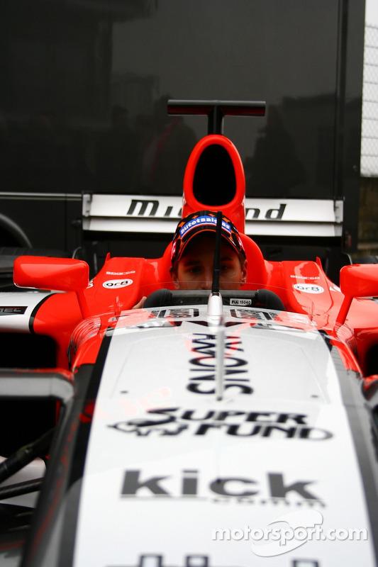 Christijan Albers in the new MF1 Racing M16
