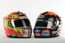Helmets of Tiago Monteiro and Christijan Albers
