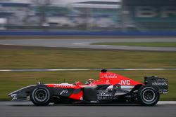 Christijan Albers tests the MF1 Racing M16