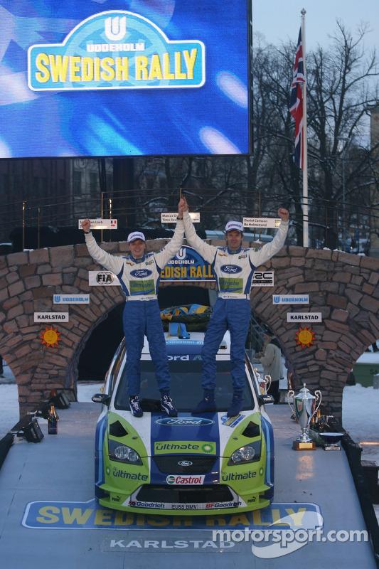 Podium: vainqueurs Marcus Gronholm et Timo Rautiainen