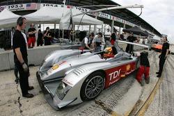 Frank Biela sits in the Audi R10