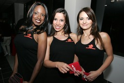 The lovely Budweiser hostesses