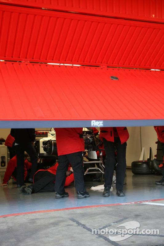 Le stand de Super Aguri F1