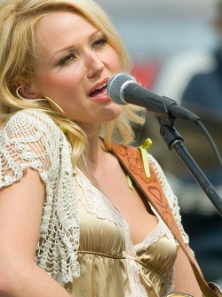 Recording artist Jewel performed three songs during pre-race activities