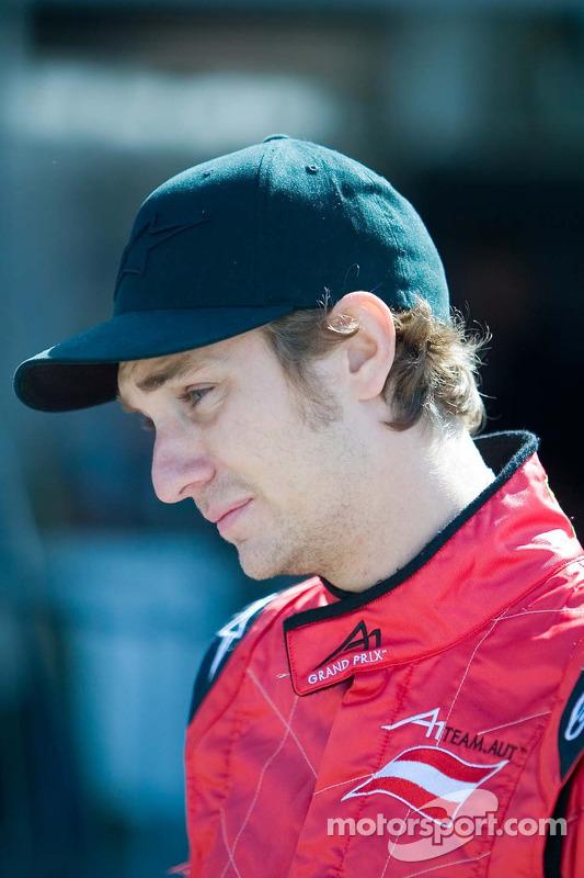 Mathias Lauda, pilote de l'équipe d'Autriche