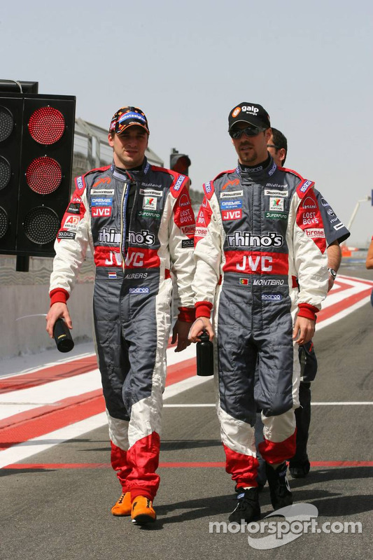 Christijan Albers y Tiago Monteiro