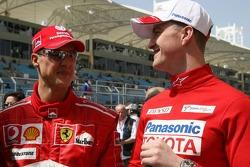 Michael Schumacher and Ralf Schumacher
