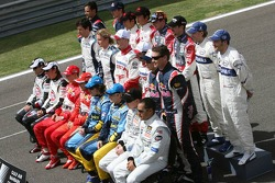 Drivers photoshoot: the 2006 Formula One drivers