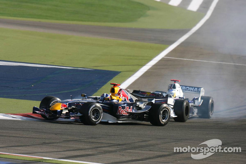 David Coulthard y Nick Heidfeld