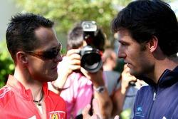 Michael Schumacher and Mark Webber