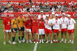 Vodafone Rugby 7s Challenge: Michael Schumacher ve Felipe Massa