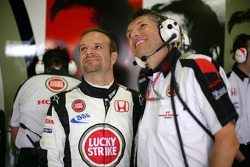 Rubens Barrichello and Nick Fry