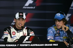 Press conference: pole winner Jenson Button and Fernando Alonso