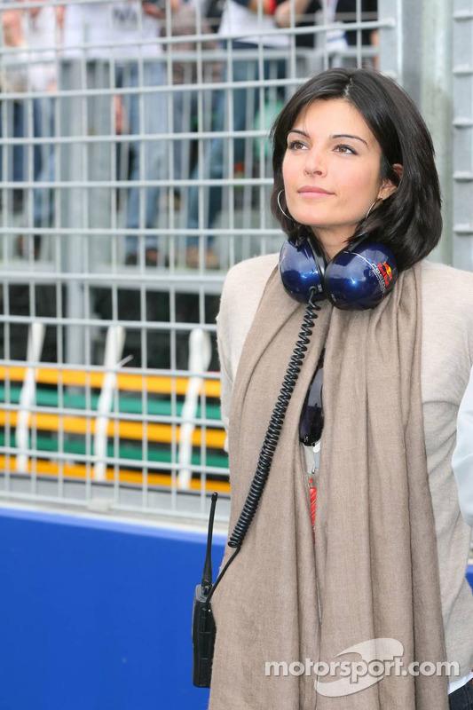 David Coulthard's girlfriend Karen Minier