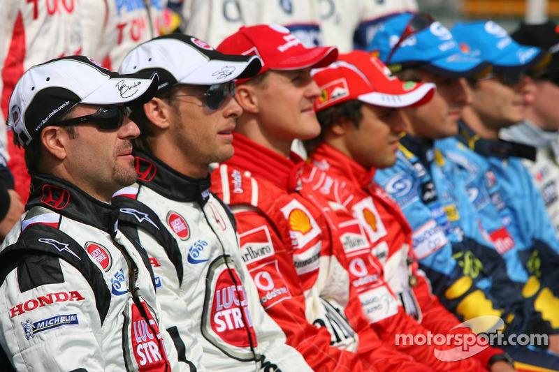 Foto de grupo, pilotos