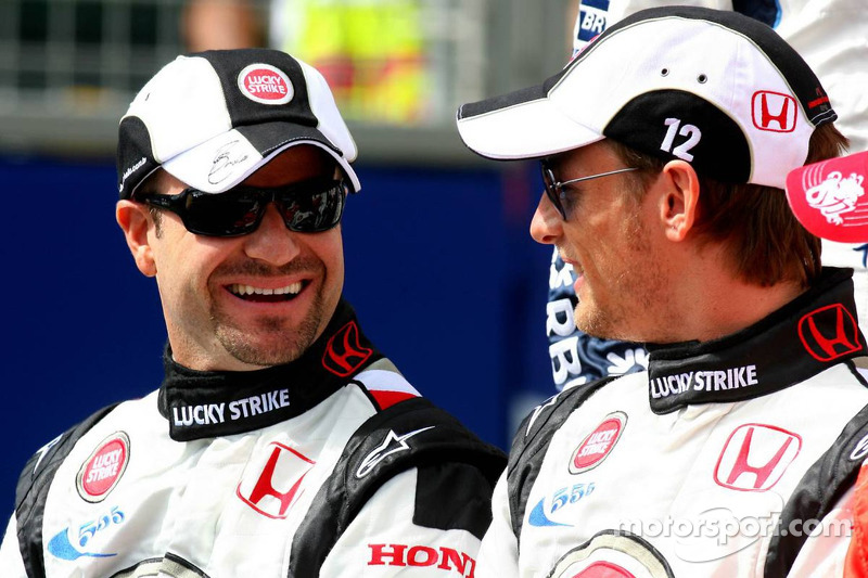 Foto de pilotos: Rubens Barrichello y Jenson Button