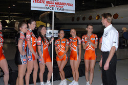 Memo Gidley with Miss Grand Prix of Long Beach contestants