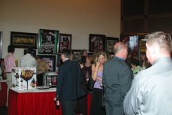 Silent Auction of racing memorabilia at the Hall of Fame Banquet