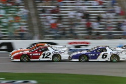 Mark Martin bumps Ryan Newman