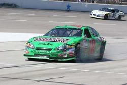 J.J. Yeley's damaged car