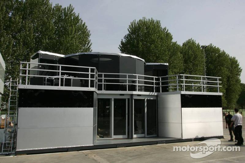 La zone d'hospitalité de Midland F1