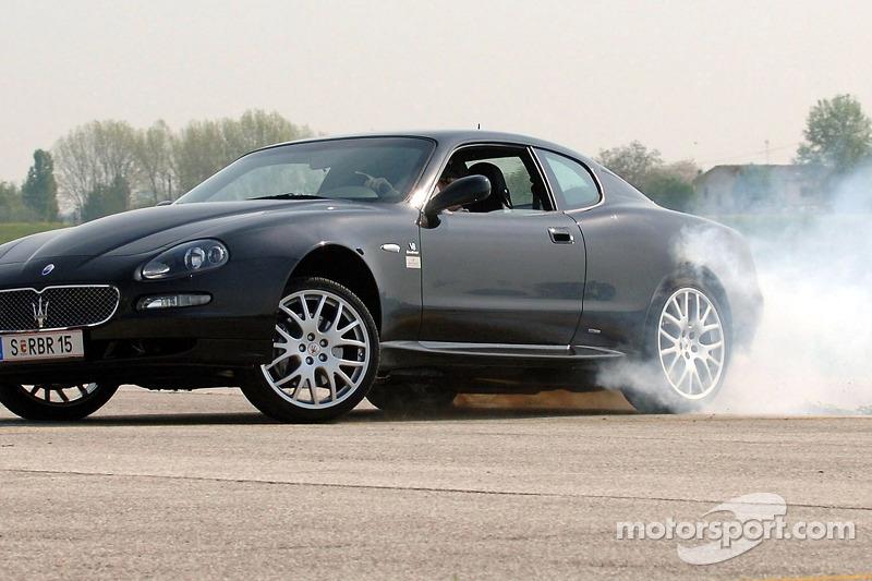 Christian Klien avec sa nouvelle Maserati GranSport